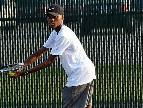 Senior Ronald Greene grabbed a victory in the Sectional championship game with his partner Micah Rayburn at No. 1 doubles.