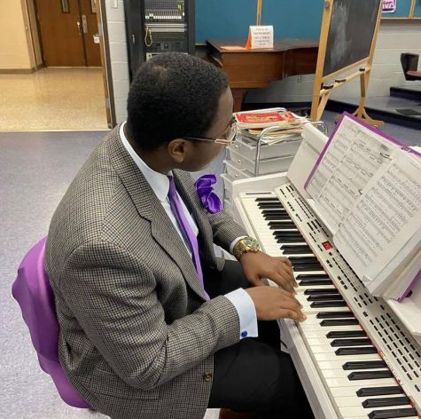 Andre Burns has shown skills beyond his years at the piano.