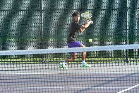 Senior Benzi Corrales is playing at No. 1 singles this  year.